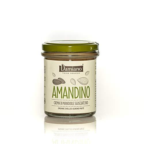 Crema Spalmabile di Mandorle Sgusciate, 100% Biologiche - Senza Glutine e Vegan Friendly - Vasetto da 180g