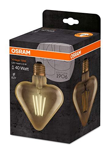 Osram LED Vintage 1906 Lampe, Sockel: E27, Warm White, 2500 K, 4, 50 W, Ersatz für 40-W-Glühbirne