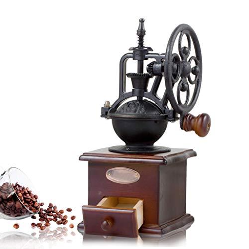 Vintage Handmatige Koffiemolen/Klassieke Stijl Handmatige Handslijper met Grind Instellingen en Catch Lade Koffiemolen Coffee Color