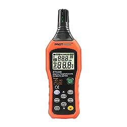 Protmex Digital Psychrometer Thermo-Hygrometer, Accurate Temperature Humidity Sensor Gauge