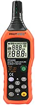PROTMEX PT6508 Temperature Humidity Meter Thermometer Hygrometer with Ambient,Dew Point, Wet Bulb for Indoor and Outdoor, Min/Max Hold, LCD Backlight