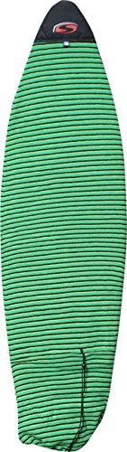 SOLA Sock - Tabla de funboard (6'7/2 m), Unisex, Funboard, Green Stripe