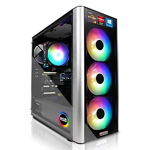 dcl24.de [13172] Gaming PC RGB Level 20 AMD Ryzen 9 5900X 12x3.7 GHz - X570, 1TB M.2 SSD & 3TB HDD, 32GB DDR4, RX6800XT 16GB, WLAN, Windows 10 Pro Spiele Computer Rechner