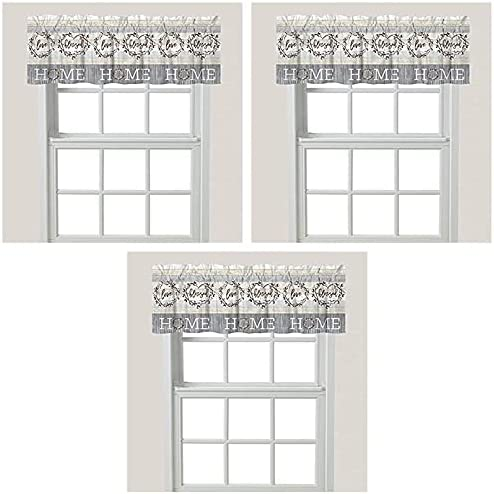 Laural Home Loving Window Max 48% OFF 3 Popular shop is the lowest price challenge Grey Valance