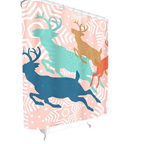 ANVPI douchegordijnen leven Kerstmis bedrukt modern Kerstmis douchegordijn voor badkamer cadeau voor familie