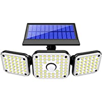 NBJ 3 Heads Solar Lights Outdoor with Motion Sensor