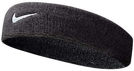 Nike Mens Swoosh Headband Sweat Band One Size Black / White