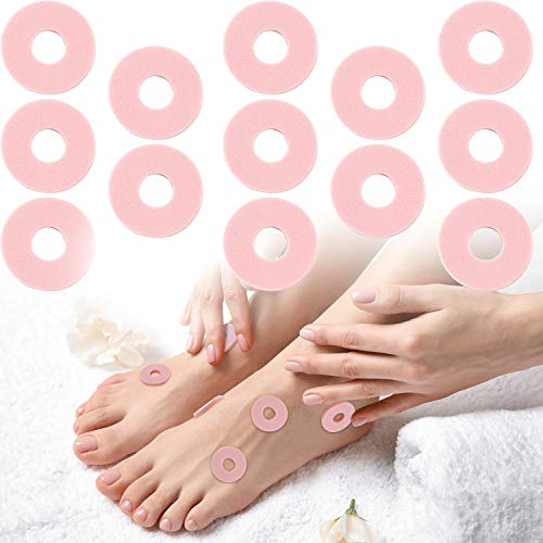 Foam Callus Cushions 36 Pieces Waterproof Callus Pads Soft Toe Protectors for Feet Heel Reducing Rubbing