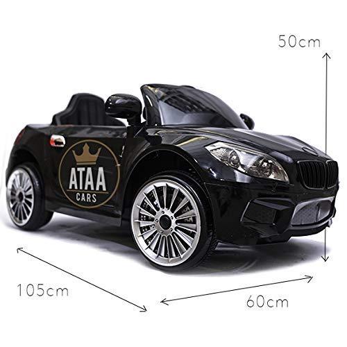 ATAA Coche eléctrico niños con Mando y batería 12v Estilo BMW X5 12v Coche eléctrico para niños Negro