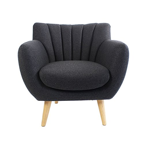 ALTASSINA Soft Fauteuil/CANAPE Style SCANDINAVE Confort (1, Anthracite)