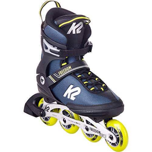 K2 Skates Herren Inline Skate Freedom M — Blue - Yellow — EU: 43.5 (UK: 9 / US: 10) — 30E0341