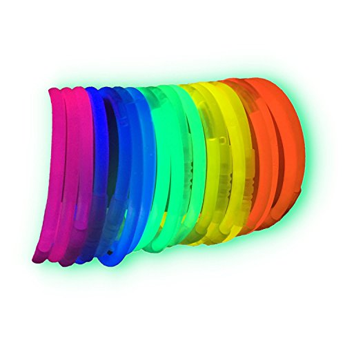 La Vida en Led 100 Pulseras Luminosas Glow Pack Multicolor Conectores extralargos