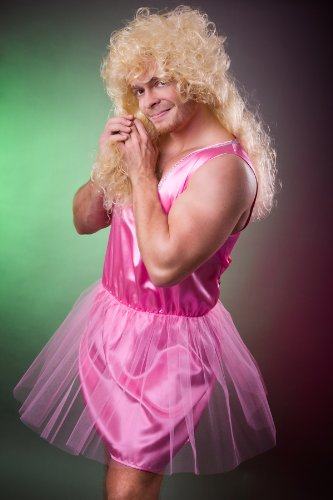 Zahnfee déguisement pour homme, taille l (rose/motif ballerine herrenkostüm enterrement de vie de jeune fille motif ballerine