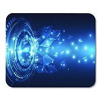 マウスパッドアプリケーションブルーメディアデジタルグローバルテクノロジーアブストラクト電源回路ノートブック、デスクトップコンピューターマットオフィス用品用マウスパッド