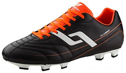 Pro Touch Herren Classic FG Fußballschuhe, Schwarz (Schwarz/Orange/Weiss 901), 46 EU