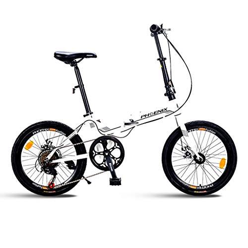 Paseo Bicicleta Bicicleta De Montaña Bicicleta Plegable Bicicleta Unisex De 20 Pulgadas...