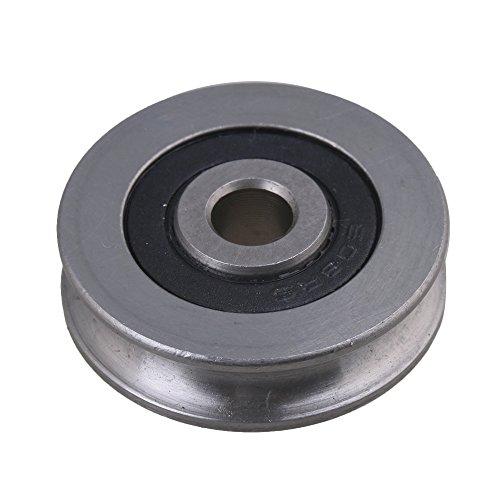 cnbtr 5 x 29,5 x 8 mm U Form 440 C Edelstahl versiegelt Kugellager Umlenkrolle Schiene Kugellager Rolling Rad Silber