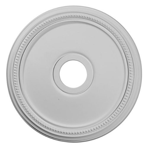 """Ekena Millwork CM18DI Diane Ceiling Medallion, 18""""OD x 3 5/8""""ID x 1 1/8""""P (Fits Canopies up to 5 3/8""""), Factory Primed"""
