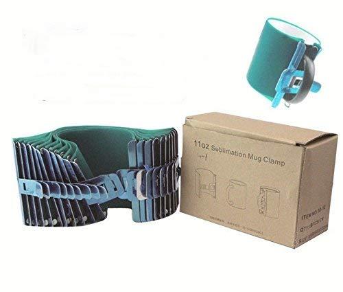 Abrazadera de silicona para tazas de 325 ml, accesorio para impresión de tazas de café, 10 unidades