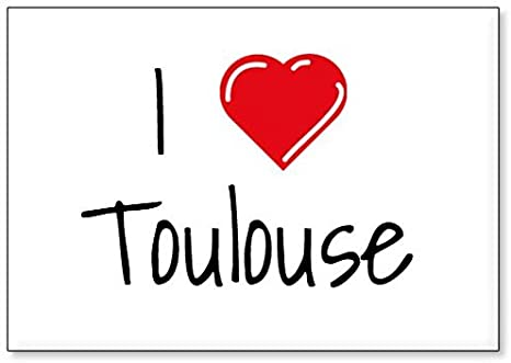 Im/án para Nevera Mundus Souvenirs Amo Toulouse dise/ño 1