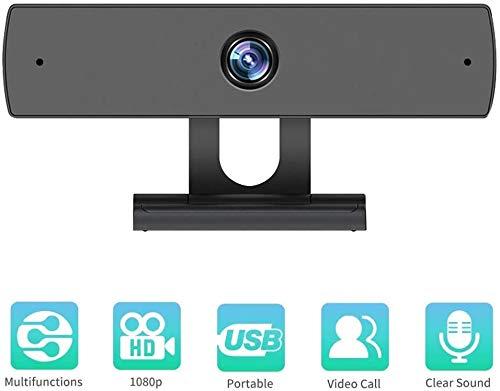 Cámara web con micrófono, cámara web 1080P HD Cámara web para computadora con cámara -USB Cámara para computadora para computadora portátil Computadora de escritorio Video llamadas, conferencias