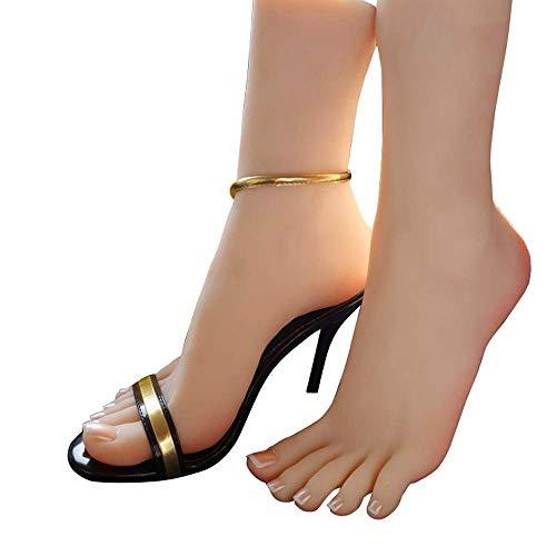 YH-feet Silicone Pieds Modèle, Modèle de Beaux Pieds de Vraies Femmes 1: 1 Font des Pieds de beauté 36A, Copie de Pied réaliste visuelle et Tactile