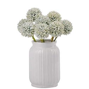 cn-Knight Artificial Pom Pom Mum Chrysanthemum 24pcs 11 Inch Pompon Mum Flowers for Wedding Bridal DIY Bouquet Home Décor Centerpieces(Green)