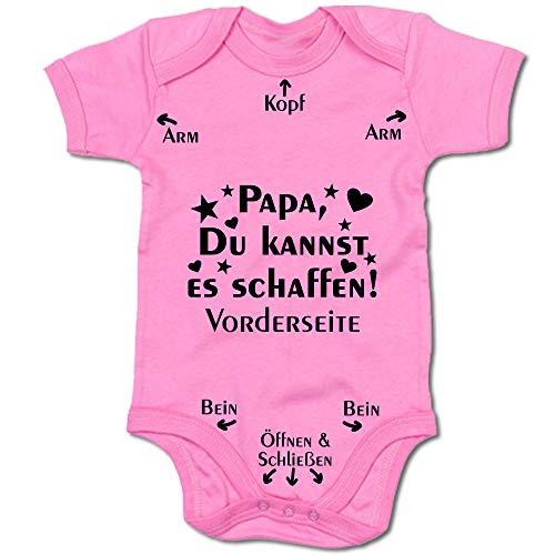 G-graphics Papa, Du Kannst es schaffen! Baby-Body (250.0210) (12-18 Monate, pink)