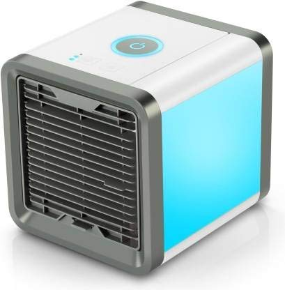 Sonans Ruby Enterprise Advance Arctic Air Personal Space Cooler 3-in-1 Portable Mini Air Cooler Humidifier & Purifier with 3 Speeds and 7 Colors LED Lights