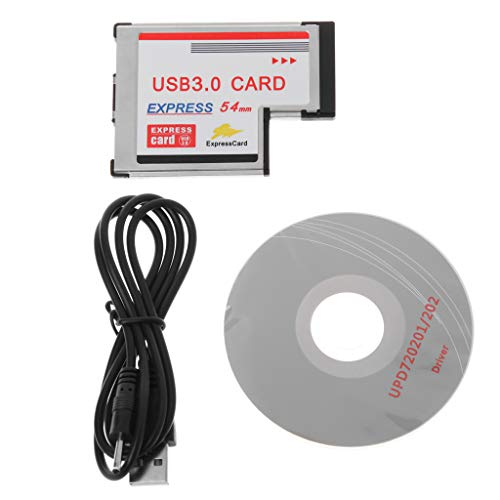siwetg 2 Doppel-Port USB 3.0 HUB Express Card ExpressCard Adapter Versteckt 54 mm für Laptop