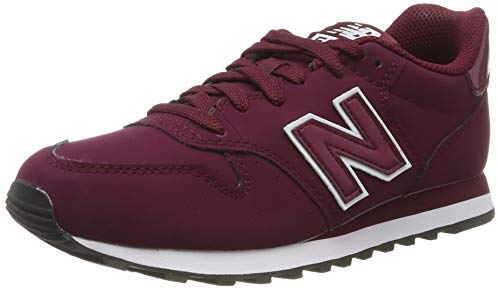 New Balance Damen 500 Sneaker, Rot (Red/White Red/White), 36.5 EU