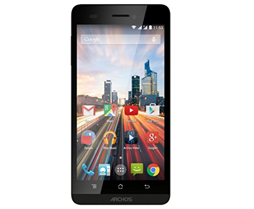 ARCHOS 50b Helium Smartphone 12,7cm (5 Zoll) IPS Touchscreen, 4G LTE, Quad-Core 1.2 GHz, 1GB RAM, 8GB Speicher, 8 Megapixel Kamera mit LED Flash, Android 4.4.4