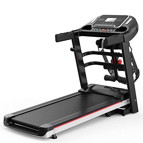 AICKERT Cinta de correr y andar Plegable Eléctrica con Pulsómetro y pantalla LCD, Máquina Fitness motor de 2.0HP hasta 1-14km/h,3 Modos (Velocidad, Calorías, Tiempo) Ahorro de Espacio para Ofici