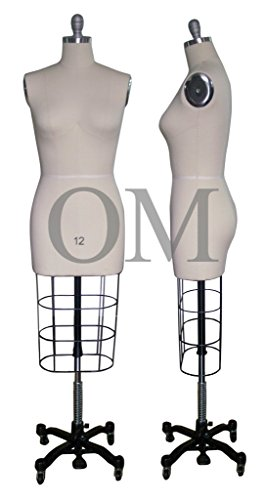 Female Professional Fashion Dressmaker Dress Form Mannequin Size 12  (Professional Series)