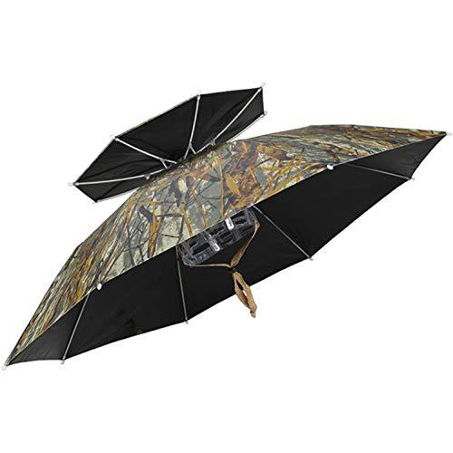 SJBD-Coaster Sombrero de Paraguas para Actividades al Aire Libre Sombreros de Paraguas Ajustables para Adultos Niños Paraguas Sombrero de Sol Pesca al Aire Libre Jardinería Camping