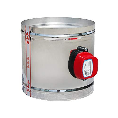 Fangxia Store 220V 24V 12V 1 Nm accionador de aire del amortiguador válvula eléctrica de conductos de aire motorizado Amortiguador de Ventilación válvula de tubería de acero inoxidable 60-200mm
