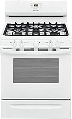 """Frigidaire FCRG3052AW 30"""" Freestanding Gas Range with 5 Sealed Burners 5 cu. ft. Oven Capacity in White"""
