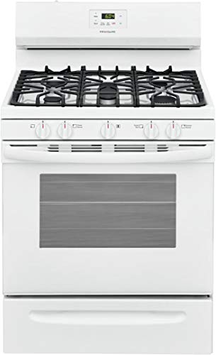Frigidaire FCRG3052AW 30' Freestanding Gas Range with 5 Sealed Burners 5 cu. ft. Oven Capacity in White