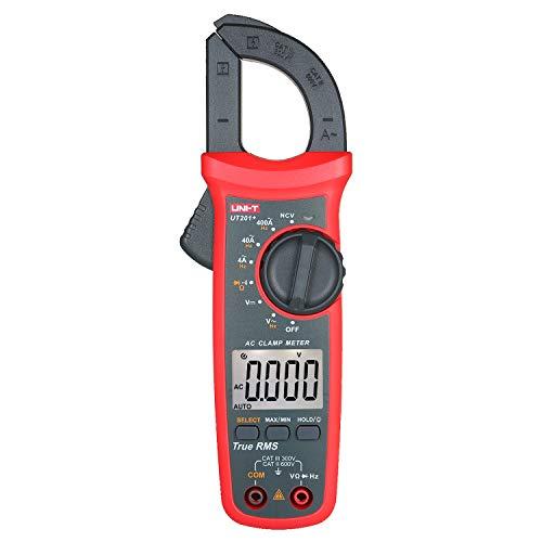 Lepeuxi UT201 + 4000 Zählt Digitale Zangenmessgeräte True RMS Multimeter Zangenamperemeter Spannungsmessgerät NCV-Test Universalzangenmessgerät Wechselstromzangenmessgerät