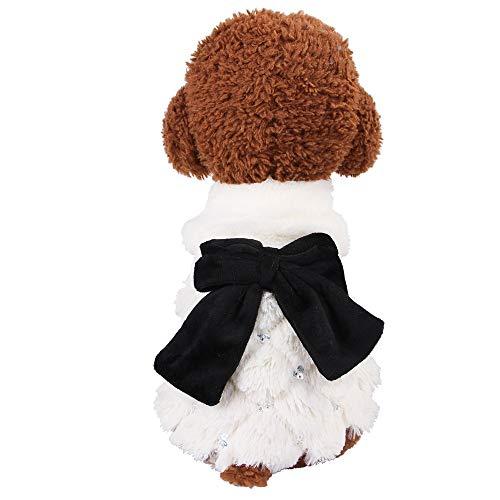 Lolittas mantel, prinses strik, voor honden, katten, huisdieren, kleding voor Kerstmis, L, Wit.