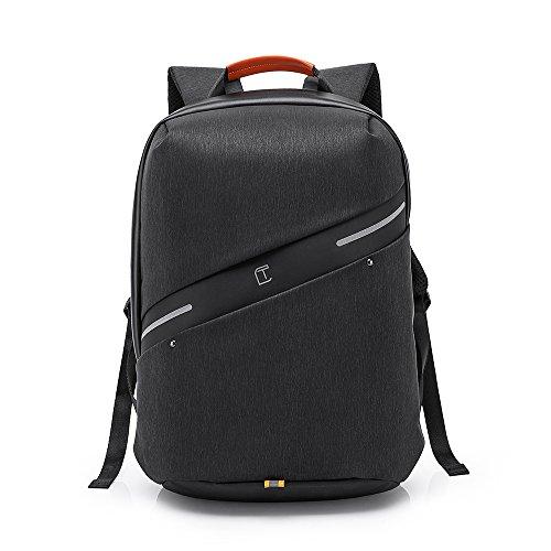 TangCool Polyester Waterproof Antitheft Laptop Backpack - Black