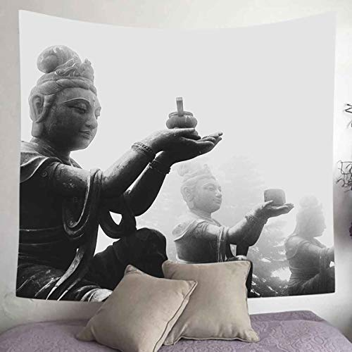 UHOMETAP Buddha Tapestry, Buddhist Statue Tapestry Wall Hanging Home Décor,60x60 Inches Bedroom Living Room Art Tapestry GTQQUH147