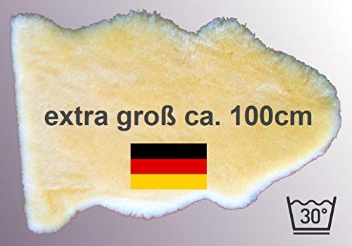 *** Notre Best-Seller: LANABEST XXL peau d'agneau extra grande. Lavable à 30° C. Tannage médical, fabriqué en Allemagne. Odeur agréable. Peau d`agneau rasée a 3 cm. Longueur env. 100 cm