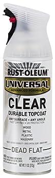Rust-Oleum 302151 Universal All Surface Spray Paint 11 oz Clear Dead Flat 11 Ounce