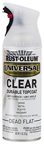 Rust-Oleum 302151 Universal All Surface Spray Paint 11 oz, Clear Dead Flat, 11 Ounce (Pack of 1)