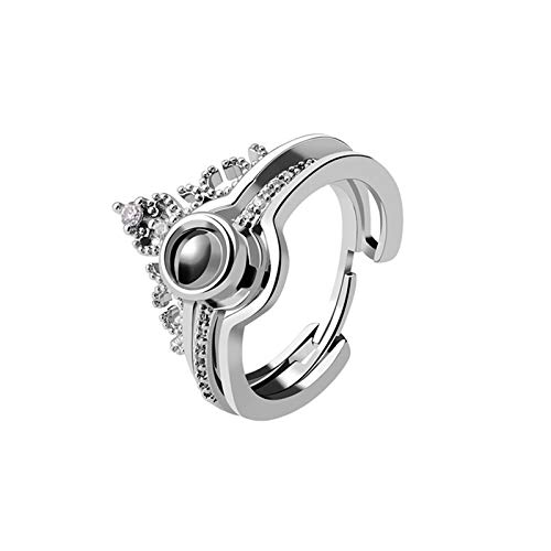 Zhengbenchang Creative Ring and Puzzle Jewelry Box, Caja de Almacenamiento de joyería, Pulsera y Anillo de Plata Creativa, Caja de Regalo de joyería Creativa del día de San Valentín 2021 (Plata)