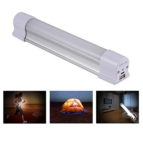 Homvik Linterna LED Camping 5200mAH 4W Iluminación Tubo Recargable Lámpara Magnético de Trabajo Lámpara LED Camping Portátil con 5 Modelos Luces Ajustables
