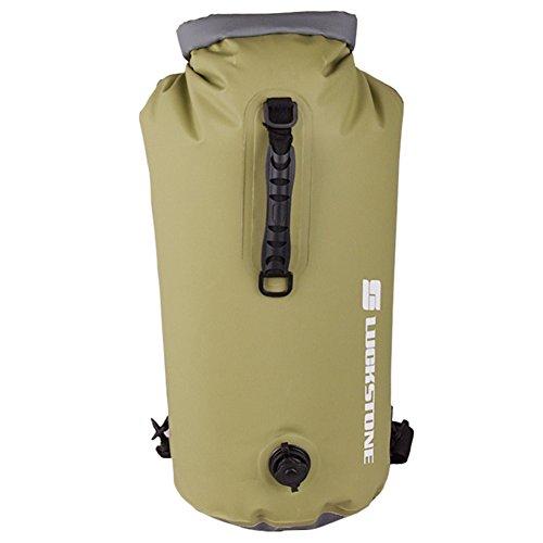 Prom-near 60L wasserdichte Tasche, Driftender aufblasbarer wasserdichter Taschen-Rucksack im Freien geeignet zum Kajak-, Boot-, Kanufahren/Angeln/Rafting/Schwimmen/Camping/Snowboarden (C)