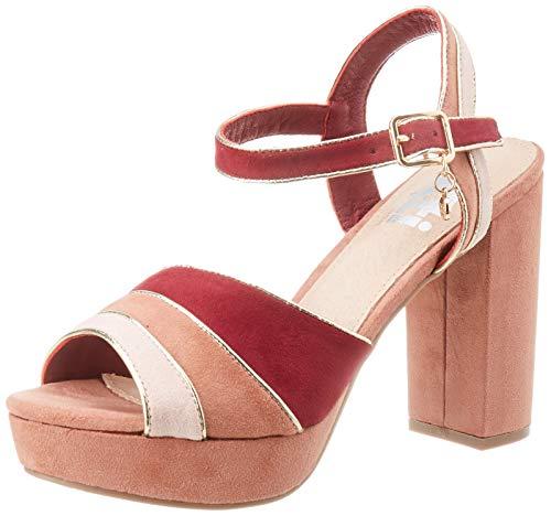 XTI 35180.0, Zapatos con Tira de Tobillo Mujer, Rosa (Nude Nude), 40 EU