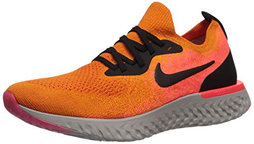 Nike Damen WMNS Epic React Flyknit Laufschuhe, Mehrfarbig (Copper Flash/Black/Flash Crimson 800), 38.5 EU